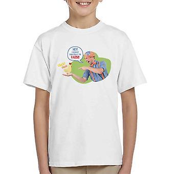 Blippi Hey I Already Saw You At The Farm Kid's T-Shirt