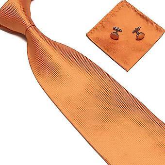 Acessórios para fantasias | Gravata + lenço + abotoaduras-Laranja