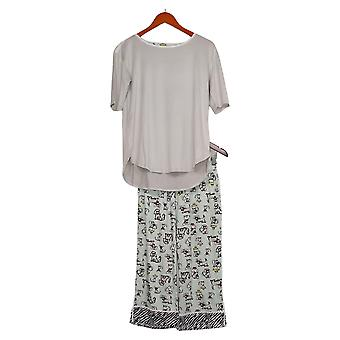 Cuddl Duds Women's Cropped Pant Pajama Set Gray A373980