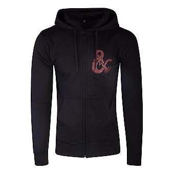 Dungeons &Dragons Iconic Logo Zipper Hoodie, Mannelijk, Groot, Zwart