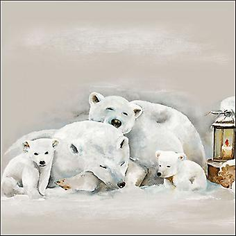 Ambiente 3 Ply Paper Napkins, Icebears