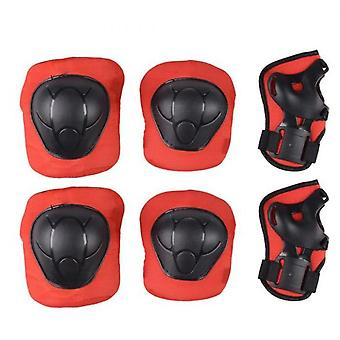6pcs-set Baby Knee Elbow Wrist Protector For Child Elbow Pads Sport Bicycle Roller Skating Ice Skate Unisex