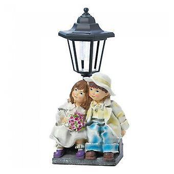 Summerfield Terrace Boy and Girl Solar Garden Light, Pack of 1