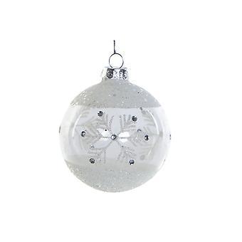 Julen Bauble DKD Hjem Dekor Krystall (8 x 8 x 8 cm)