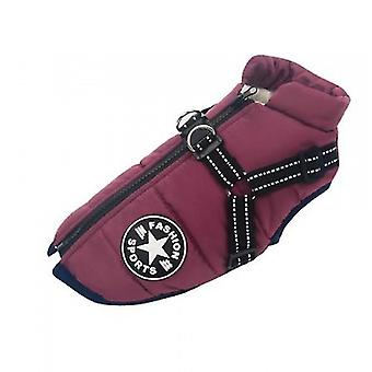 Large Pet Dog Jacket With Harness Winter Warm Dog Clothes Waterproof