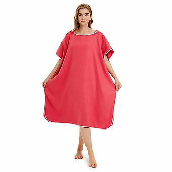 Unisex Beach Towel Poncho Bath Changing Robe Hooded Quick Dry