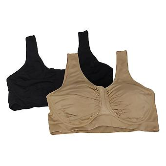 Rhonda Shear «Perfect Match» 2-Pack Soutien-gorge anti-humidité Marron 749424