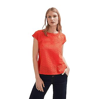 Shuuk Lovely Eyelet Cotton Blouse-Capped Sleeves Stylish and Comfortable to Wear