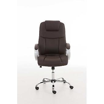 Toimistotuoli - Työpöytätuoli - Kotitoimisto - Moderni - Ruskea - Metalli - 66 cm x 70 cm x 113 cm