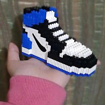 Wooden blocks mini building block basketball shoes model sneakers build bricks set diy assembly for kids christmas gifts