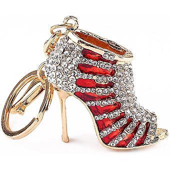 Keychain Rhinestone Alloy High Heels Key Ring Ladies Fashion Wallet Pendant