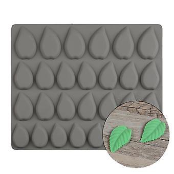 28-fach Blattform Silikonformen für Süßwaren Schokoladenkuchen Dekoration Zubehör Backwerkzeuge