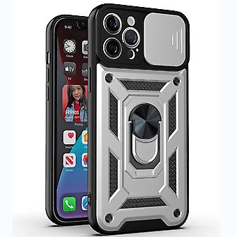Suitable For Iphone 12 Metal Frame Mobile Phone Case Frosted Transparent Pc All-inclusive Protective Cover