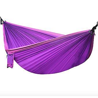 Dobbelt hængekøje faldskærmsklud, letvægts indendørs camping swing, komfortabel og åndbar, slidstærk og holdbar