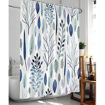 花のシャワーカーテンプラントトロピカルシャワーカーテン、バスルーム防水ファブリックシャワーカーテン12プラスチックフック、72x72インチ