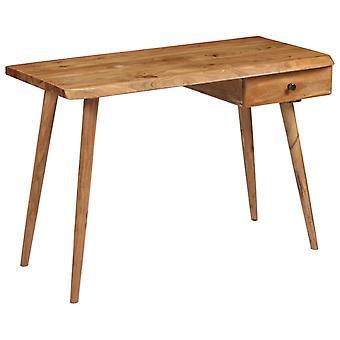 Chunhelife Table d'écriture Bois d'Acacia massif 110x50x76 Cm