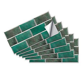 6pcs kjøkkenfliser klistremerker bad mosaikk selvklebende vegg hjem dekor