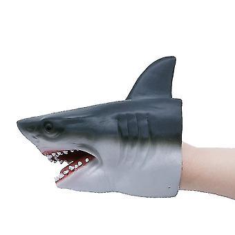 צעצוע בובת יד מציאותי לטקס בעלי חיים כריש צעצוע לילדים (כריש) מתנת קוספליי