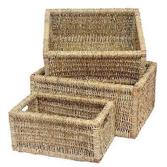 Set of 3 Seagrass Storage Basket