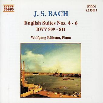 J.S. Bach - Bach: English Suites Nos. 4-6 [CD] USA import