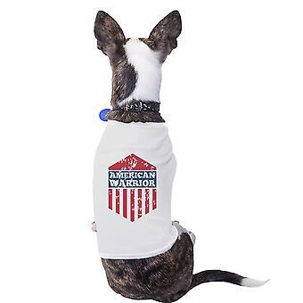 الأبيض الأمريكي المحارب الحيوانات الأليفة التي شيرت لأفكار هدايا لطيف الكلاب الصغيرة