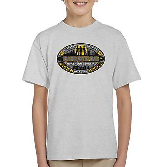 Outrun Outsmart Outlive Survivor North Georgia Walking Dead Kid's T-Shirt