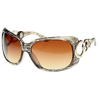 Designer inspiriert Womens Fashion Glam übergroße Sonnenbrille