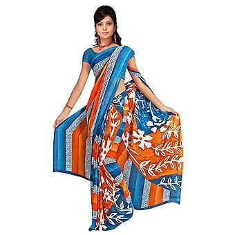 Ekaa Georgette Printed Casual Saree Sari Bellydance fabric