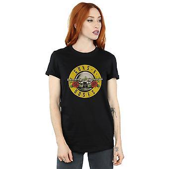 Guns N Roses naisten Bullet Logo poikaystävä Fit t-paita
