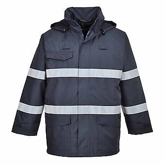 Portwest-Bizflame dážď viacúčelový ochranný plášť s kapucňou Pack Away