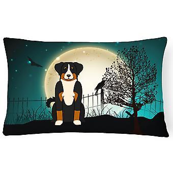 Halloween straszne Prealpami Sennenhund płótnie tkaniny dekoracyjne poduszki
