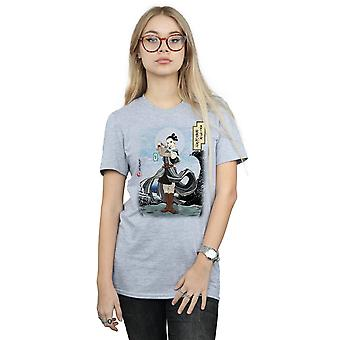 Star Wars Women's The Last Jedi Japanese Rey Boyfriend Fit T-Shirt