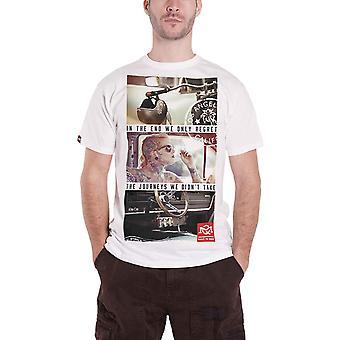 Official Quarter Mile T Shirt Journeys Graphic logo built to race Mens White