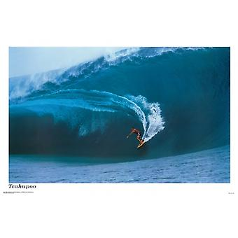 Surf Teahupoo affiche Poster Print