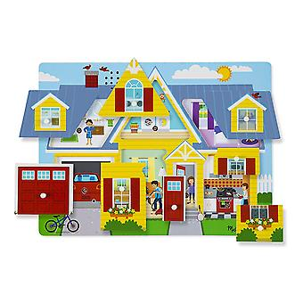 Melissa & Doug rundt huset lyd Puzzle - tre 8-PCer