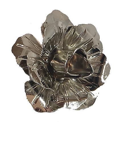 Silver Handmade Metal Flower / Rose Lapel Pin, Buttonhole, Corsage, Boutonniere
