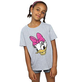 Disney Mädchen Daisy Duck Kopf gemalt T-Shirt