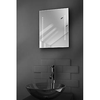 Diamond Shaver LED badeværelse spejl med afdugnings Pad & Sensor k36s