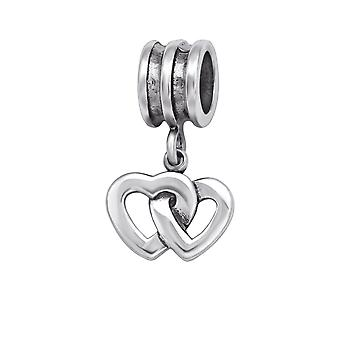 Heart - 925 Sterling Silver Plain Beads - W29551x