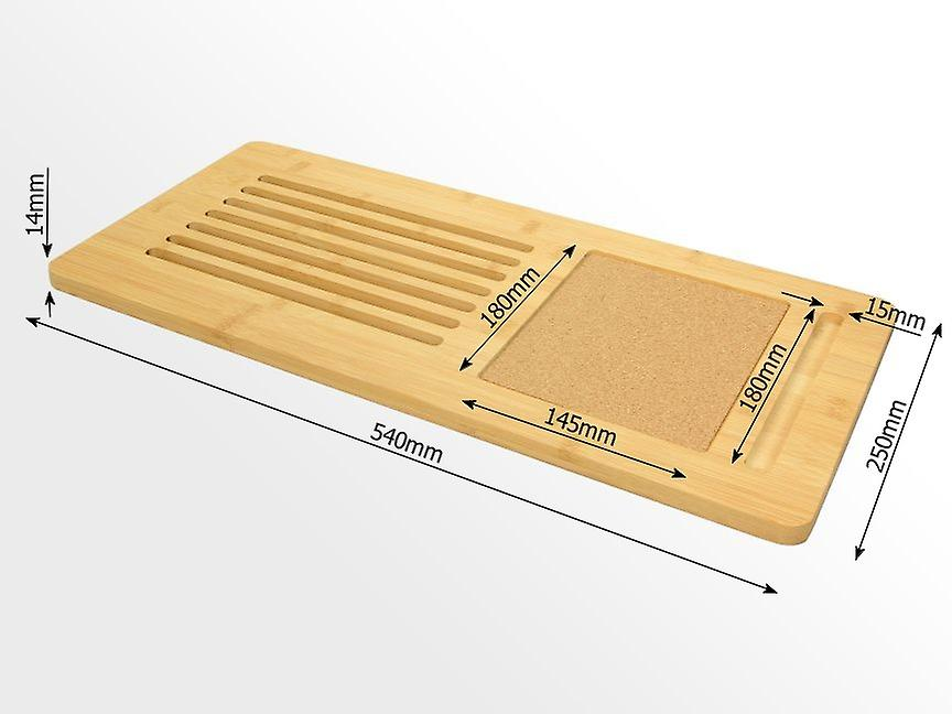 Woodquail Bamboo Laptop Tray Board with Built-in Cork Pad (fits up to a 17