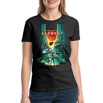 Le cinquième élément T-shirt noir 5e élément féminin