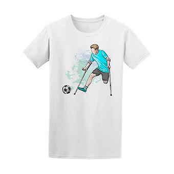 Disabled Sports Soccer Athlete Tee Men's -Image by Shutterstock