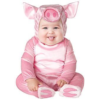 Lil' hucha cerdo rosado niño animales traje de las muchachas
