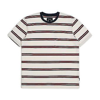 Empuñadura de Brixton lavar camiseta bolsillo blanco rojo azul marino