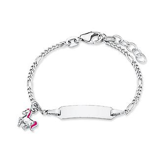 Prinzessin Lillifee Kinder Armband Ident-Armband Silber Pferd 2018082