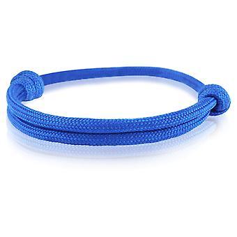 Skipper bracelet surfeur bande nœud maritimes bracelet nylon 6733 bleu foncé