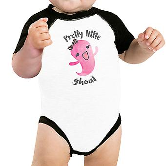 Pretty Little Ghoul Baby Halloween Baseball Baby Bodysuit Raglan Tee