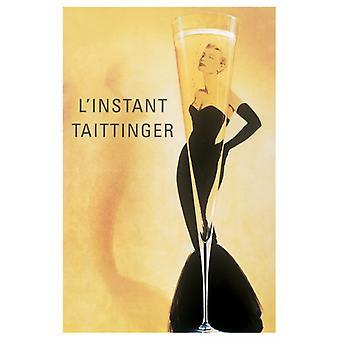 L Instant Taittinger plakat Print Vintage plakat plakat Print