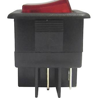 SCI Toggle switch R13-105B-01 B/R 250 V AC 10 A 1 x Off/On latch 1 pc(s)