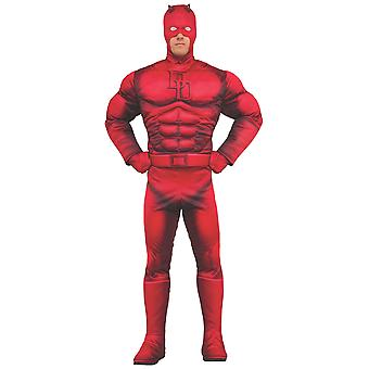 Daredevil Deluxe Muscle Marvel Classic Comic Superhero Licensed Mens Costume
